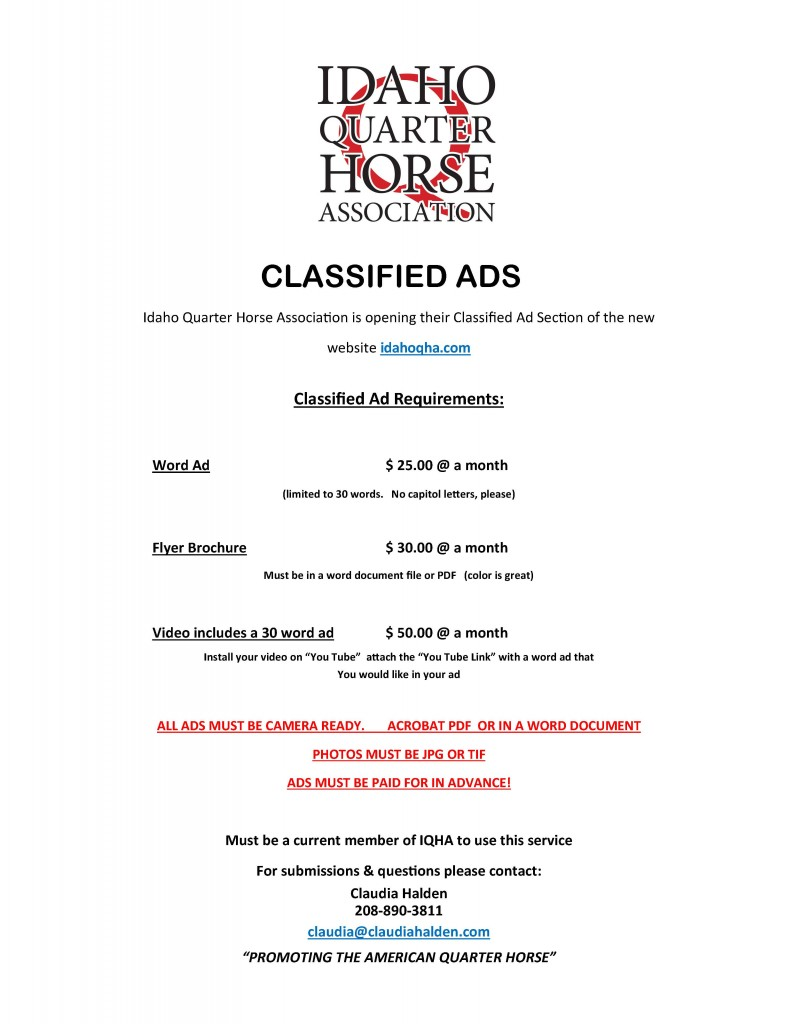 CLASSIFIED AD FLYER